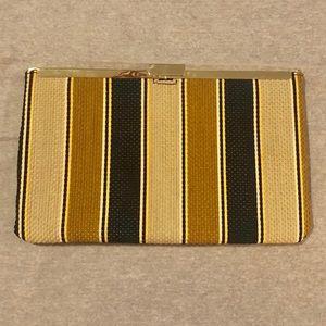 JCrew -Striped Woven clutch